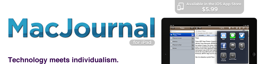 MacJournal for iPhone from Mariner Software