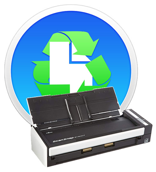 Paperless softare and ScanSnap s1300i scanner.